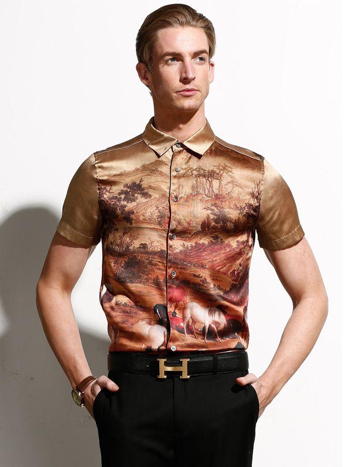 17 best images about silk men design on pinterest shops for Best short sleeve button down shirts reddit