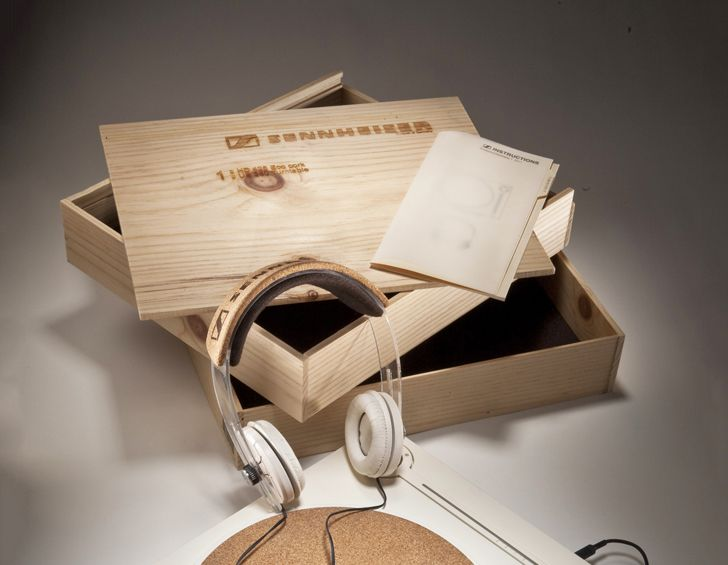 Sennheiser's eco #TurnTable - made from #recyclable and #biodegradable materials.