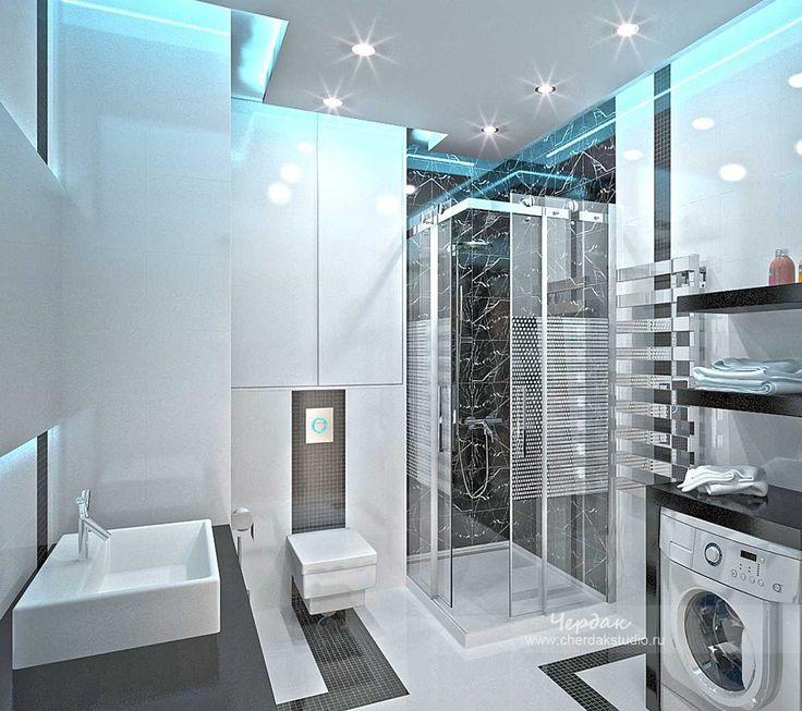 Ванная комната hi-tech дизайн