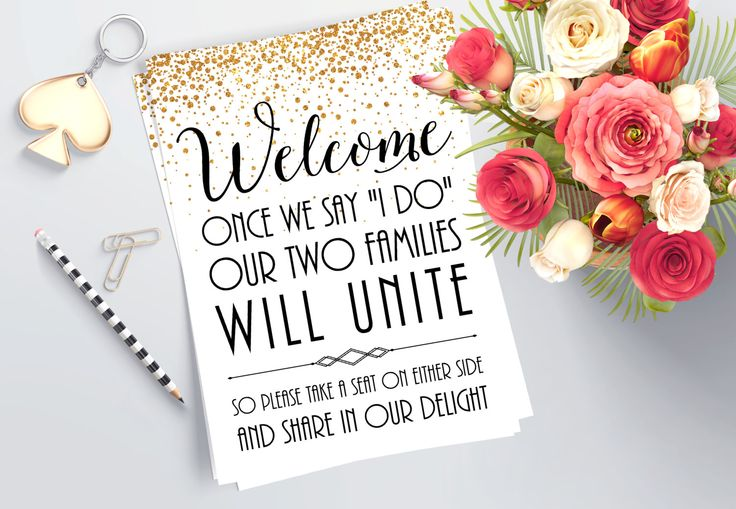 Wedding Welcome Sign - Printable Ceremony Decor - Ceremony Seating Sign - Guest Seating - Take a Seat - Not a Side - Ceremony Decorations by GlamazonGraphics on Etsy https://www.etsy.com/listing/263771376/wedding-welcome-sign-printable-ceremony
