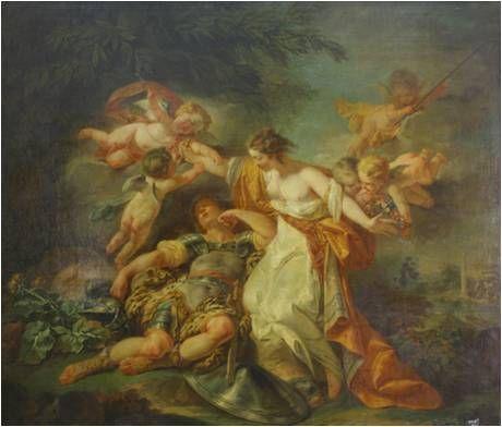 Rinaldo a Armida - Jean Honoré Fragonard