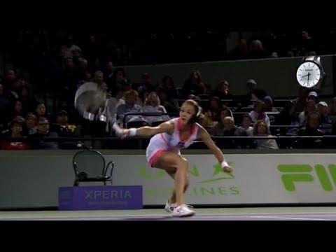 Agnieszka Radwanska 2013 Sony Open Tennis Hot Shot