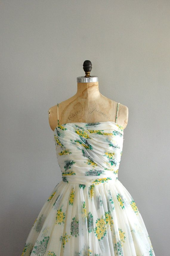 The perfect vintage garden party dress.