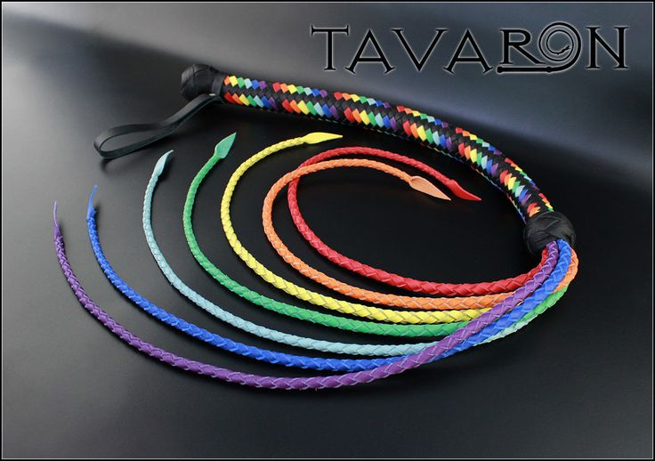 Leather Cat of nine tails, Leather Signal Whip, Leather Bullwhip, Leather BDSM whip, Fetish Whip, Cat O'Nine Tails, Pride, Lgbt, Flogger by TAVARONsLEATHER on Etsy