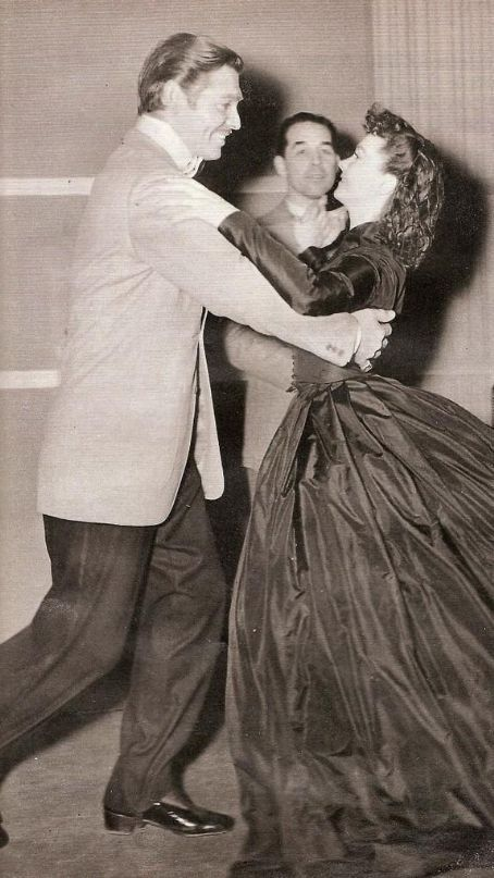 Gone with the Wind - Clark Gable and Vivien Leigh - practice makes perfect
