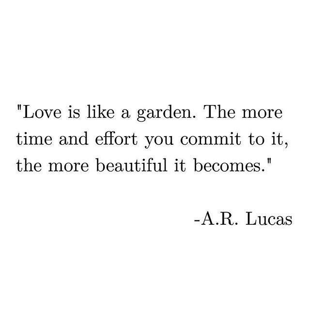 Quotes About Love :    QUOTATION – Image :    Quotes Of the day  – Description  Love is like a garden!!  Sharing is Power  – Don't forget to share this quote !  - #Love https://hallofquotes.com/2017/09/19/quotes-about-love-love-is-like-a-garden/