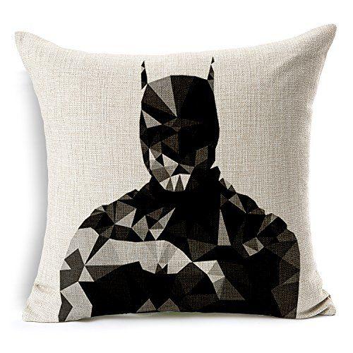 Chicozy Cotton Avengers Alliance Batman Captain America Iron Man Hulk Pillow Cover Ikia Style Sofa Cushion Cover Square Home Decration Pillowcase 17.7inch x 17.7inch - FandomShop