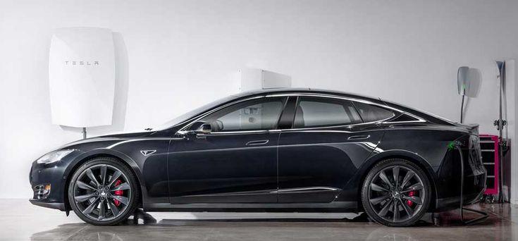 Tesla Powerwall battery and Model S