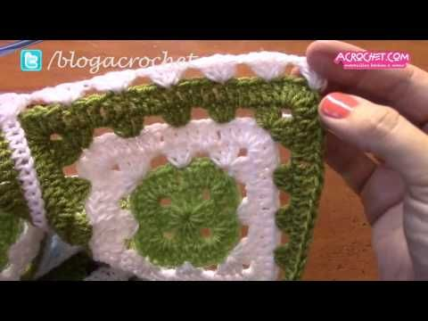 Blog Acrochet - Una manta de colores con otra terminación - Gisella Kamiche - YouTube