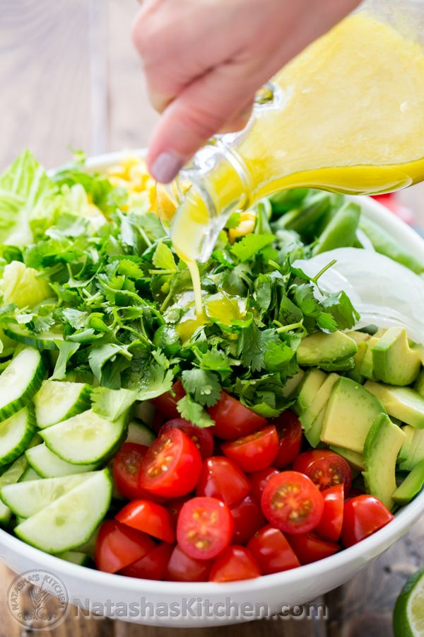 Mexican Salad with Lime Dressing