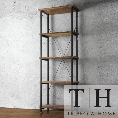TRIBECCA HOME Myra Vintage Industrial Modern Rustic Bookcase. This Stylish Bookshelf Can Serve As An Office Furniture Bookcase Or Lawyers Bookcase In A Den Or Study. With A Sturdy Construction Of Pine Wood and Sand Metal, This Piece It Built To Last. Tribecca Home,http://www.amazon.com/dp/B00GWWGGKI/ref=cm_sw_r_pi_dp_YCH0sb0Q53ZK1ZNT