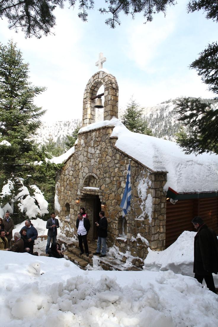 Greek Orthodox Church  Elatos Resort, Mount Parnassos, Greece