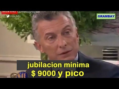 El papelón de Macri sobre la jubilación mínima en el programa de Mirtha Legrand - YouTube