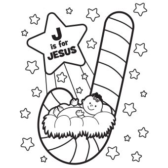 jesus candy cane i could not get this to pin as a - Coloring Pages Website