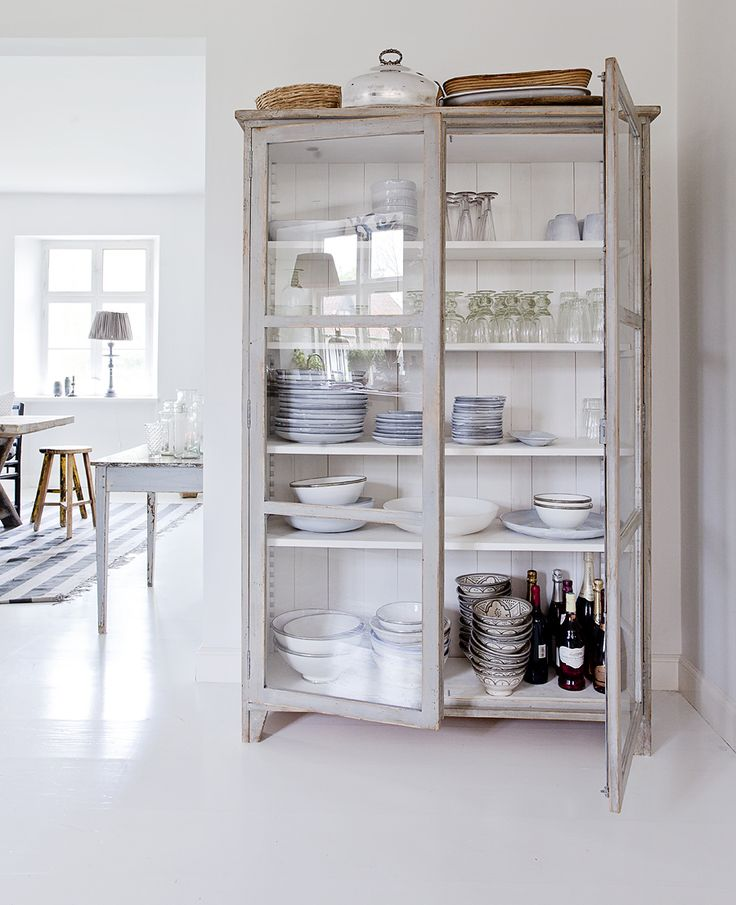 Repurpose an old cabinet, bookshelf or armoire...the possibilities are endless.