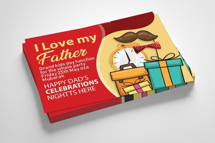 Happy Father S Day Greeting Card 650657 Card And Invites Design Bundles Happy Fathers Day Greetings Father S Day Greeting Cards Card Template