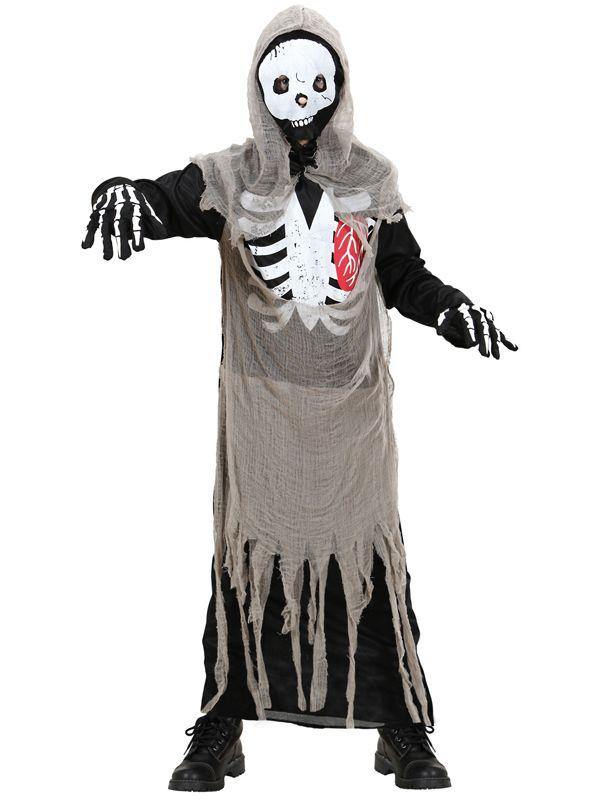 Skjelettkostyme Zombie - Halloween kostyme for barn