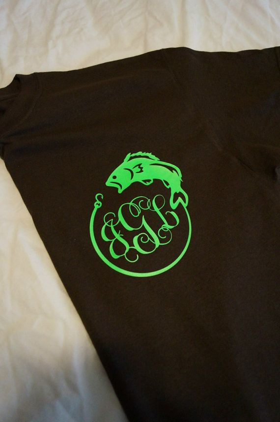 Monogrammed Fish Shirt by TheLynnsCreations on Etsy