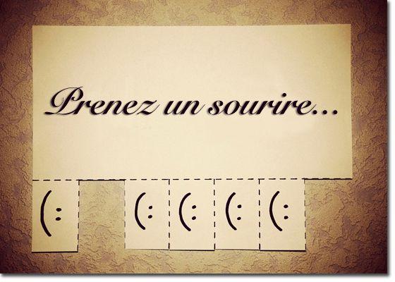 Prenez un sourire...