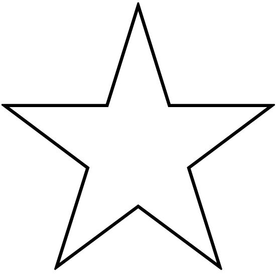 Stars to print and cut out star shape cutouts logan for Star template free