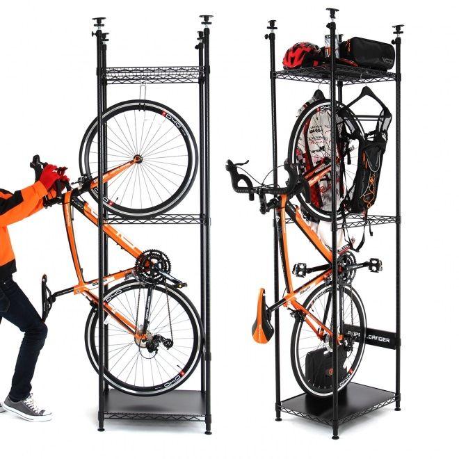 自転車を立てて収納する「バイシクルハンガー」―賃貸住宅にはこれでしょ! - えん乗り