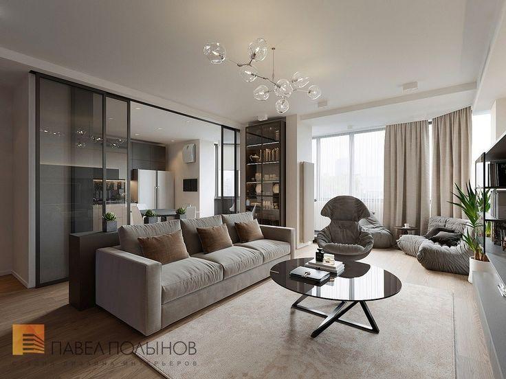 Фото гостиная из проекта «Дизайн трехкомнатной квартиры 113 кв.м. в современном стиле»