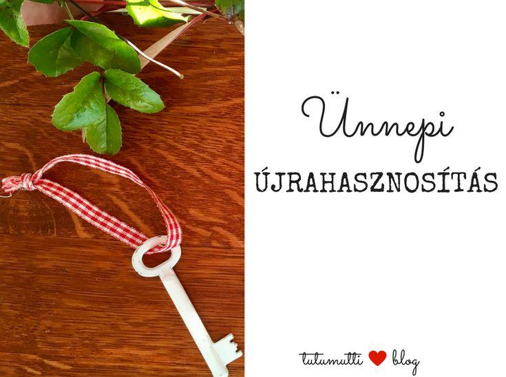 Tutumutti - Gyerekkel kreatívan blog / www.tutumutti.blog.hu / Karácsonyfadísz régi kulcsból / Old Key Christmas Ornament / DIY and Crafts