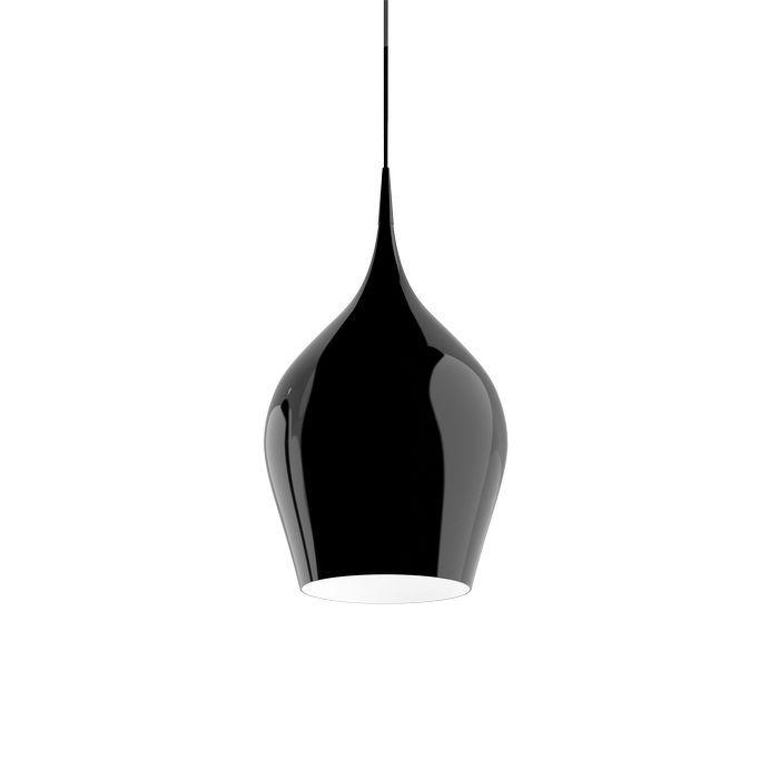 Lakované kovové svítidlo ve tvaru obrácené číše ve dvou velikostech. POSLEDNÍ VYSTAVENÝ KUS!