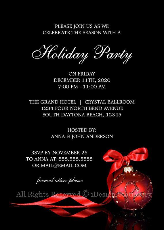 Elegante Navidad invitaciones invitación por iDesignStationery