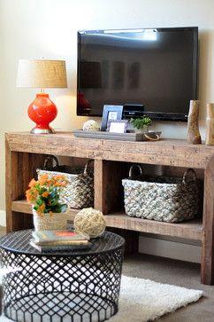 Mueble rústico para el televisor