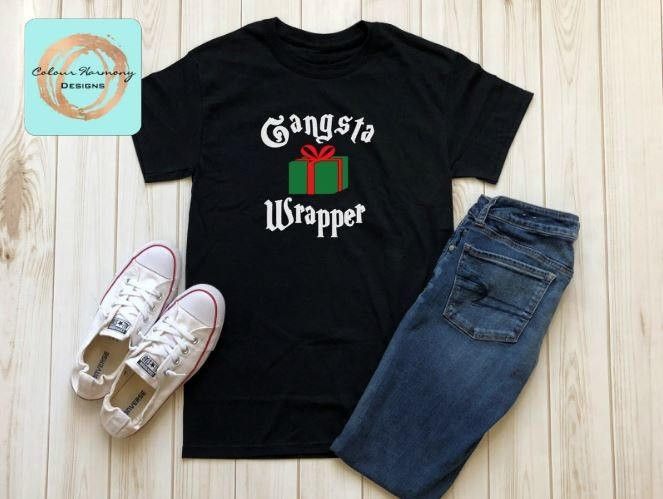 Still 1 more day to order your holiday shirt (1 more week for pickup orders). Check out the latest addition to my #etsy shop: Gangsta Wrapper - Christmas/Holiday Shirt . . . #clothing #christmas #tshirt #holidays #raglan #gangsta #wrapping #wrapper #gangstawrapper #giftbag #presents #kitchener #waterloo #customvinyl #customtee #customtshirts #colourharmonydesigns http://etsy.me/2iXqeXH