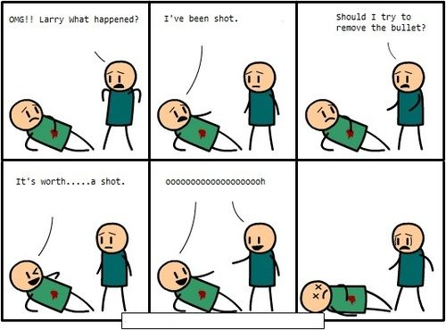haha!! cyanide and happiness have the FUNNIEST comics