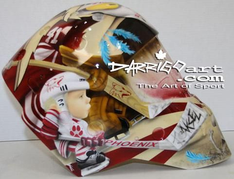 Coyotes Goalie Masks for 2012-13 - 02/24/2013 - Phoenix Coyotes - Mike Smith