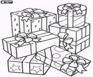 christmas gifts or christmas presents coloring pages - Christmas Present Coloring Pages