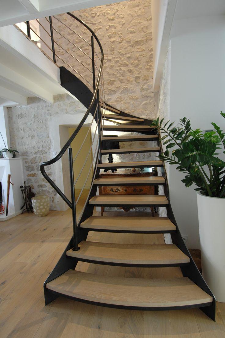 25 best ideas about escalier 1 4 tournant on pinterest main courante en bois fabricant. Black Bedroom Furniture Sets. Home Design Ideas
