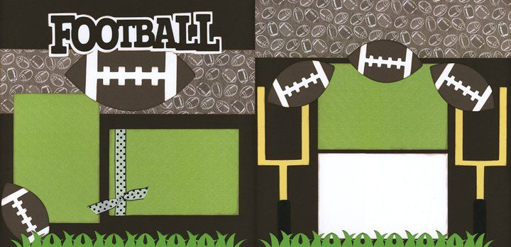 Football Scrapbook Layout