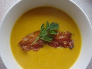 Pumpkin and Bacon Soup #thermomix ...oooh ben will like this #bacon