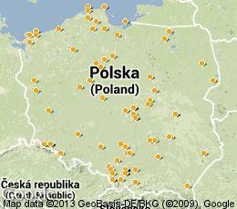 Parki rozrywki w Polsce na mapie