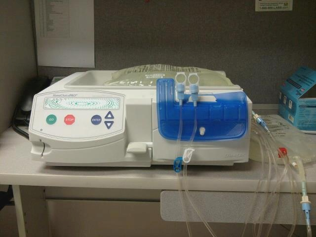 This is a dialysis machine that is for home use nightly  Dialysis