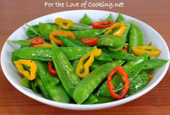 Snow Peas and PeppersEasy Healthy, Sesame Snow, Sesame Oil, Peppers ...