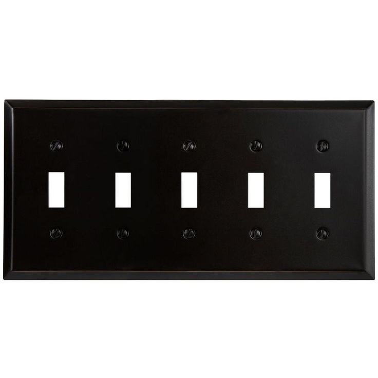 Amerelle Steel 5 Toggle Wall Plate - Aged Bronze-SB163T5DB at The Home Depot
