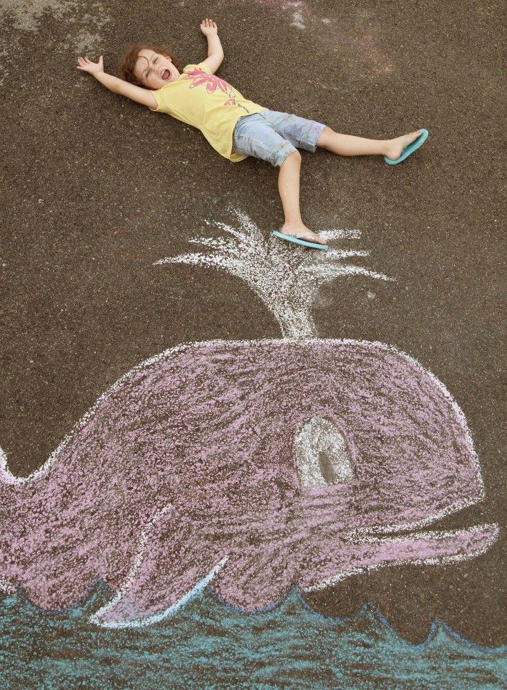 Sidewalk Chalk Photos - whale!