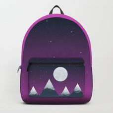Mountain moon Backpack, stylish backpack, travel with style, what to pack in, landscape