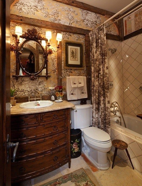Small Romantic Bedroom Ideas: French Country Bathroom, French Bathroom Decor