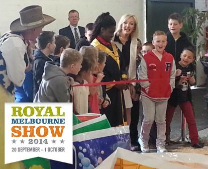 Get your Melbourne Day showbag at the Royal Melbourne Show from 20 September to 1 October. Just $20 but with more than $200 value! Come see us at the Woolworths Fresh Food Pavilion.  Our Junior Lord Mayor Ebony Chiazor helped launch this year's 388 showbags. She is pictured cutting the ribbon, with Consumer Affairs Minister Heidi Victoria and Mark O'Sullivan, Royal Agricultural Society of Victoria chief executive (rear).