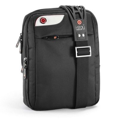 I-STAY NETBOOK IPAD BAG in Black with Non Slip Bag Strap. Suitable for 10.1 Inch Laptop. Size: 22.5x28.5x7cm. Weight: 0.5kg. Includes Two Main Compartments, Gun Metal Fittings, Front Zip Pocket, Organizer Zip Pocket, Padded Laptop Compartment with Zip Pocket, Trolley Retainer Strap, Complete with I-Stay Non Slip Strap. Nylon & Polyester. For more great ideas contact John@fortunemarketing.ie