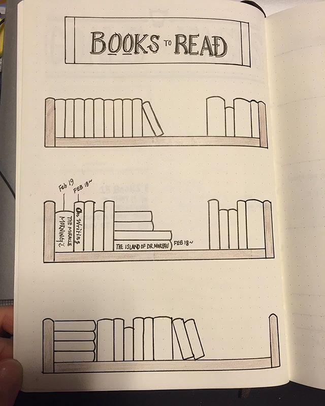 """""""Books to Read"""" page of my bullet journal: I write down title of the books I'm currently reading, with the date that I started. Once I'm done, I will write down the date completed and colour it one by one. Hopefully I will be able to colour the entire bookshelves :) #다이어리꾸미기 #다이어리 #불렛저널 #불렛저널꾸미기 #bulletjournal #bulletjournaling #bujo #bujojunkies #diary #journalentry #bookshelf #bujobookstoread #bujobookshelf"""