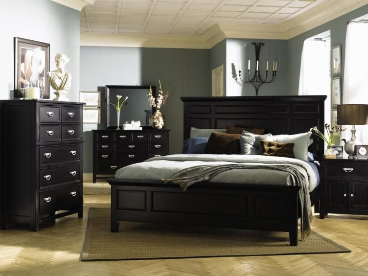 25 Dark Wood Bedroom Furniture Decorating Ideas | Owners Suite ...