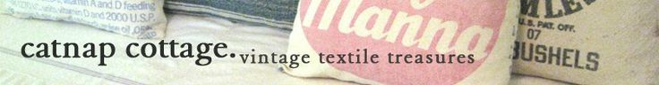 Vintage Chenille Blankets Feedsack Pillows & by catnapcottage