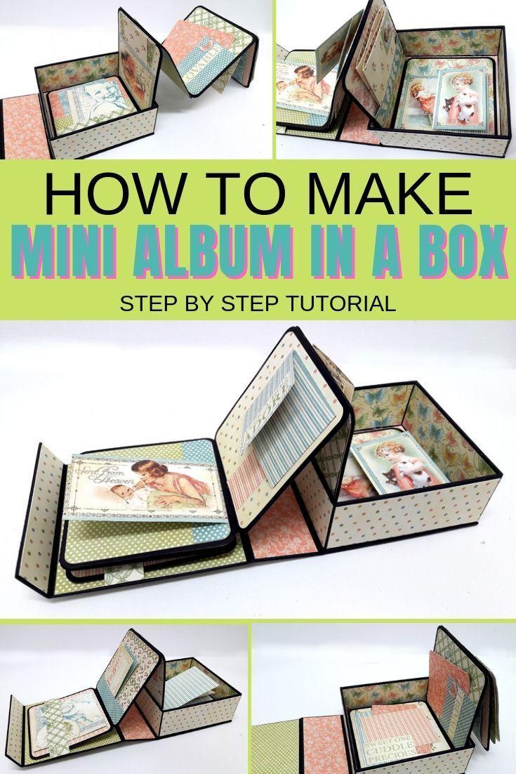 Make an interactive mini album in a box using a re…